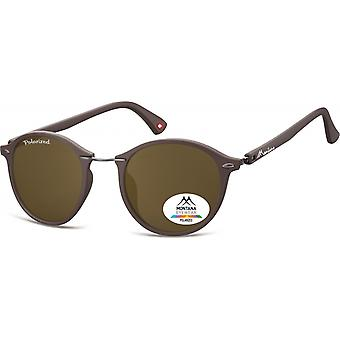 Sunglasses Unisex Panto matt brown (MP22)