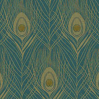 Absolutně Chic Peacock Peří Tapety Modrá AS Tvorba AS369712