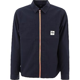 Veste extérieure Stussy 11100999navy Pour homme;s Blue Polyester Outerwear Veste