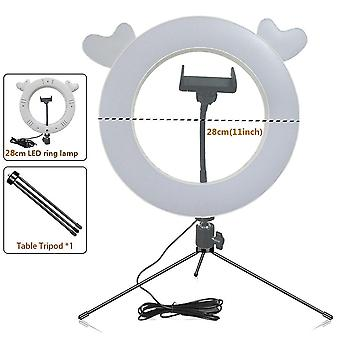 New Led Ring Flash Lights With Holder For Smartphone- Led Flash With Ball Head For Tripod Bloggers