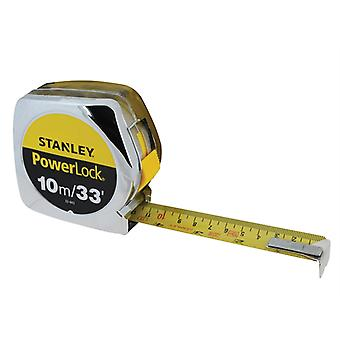 Stanley Tools PowerLock Classic Pocket Tape 3m/10ft (Width 19mm) STA033523