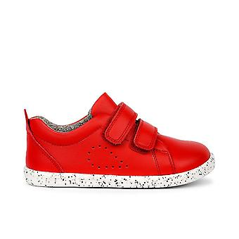 Bobux i-walk grass court red trainer shoes