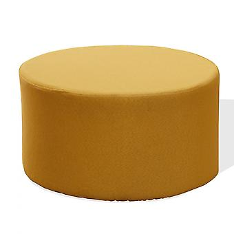 Rebecca Furniture Stool Pouff Padded Wood Modern Yellow Fabric 25x45x45