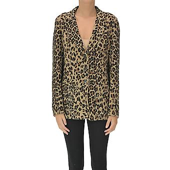 Malìparmi Ezgl194044 Femmes-apos;s Blazer en laine léopard