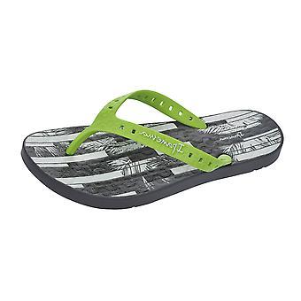 Ipanema Arpoador Mens Beach Flip Flops / Sandalen - Grau und Limette