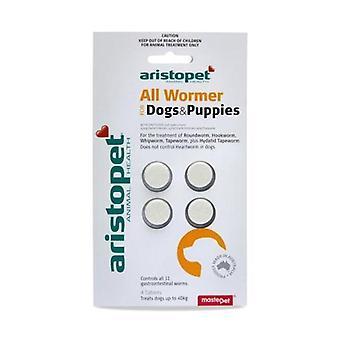 Allwormer Tabs für Hunde 10kg 4 tabs
