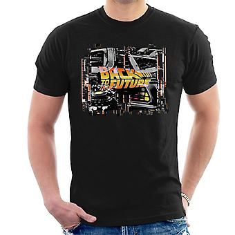 Back to the Future Delorean Montage Men's T-Shirt