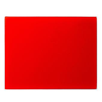 Glass Worktop Saver Chopping Board | 50 x 40cm - Red | Non Slip Tempered Protector for Kitchen Surfaces