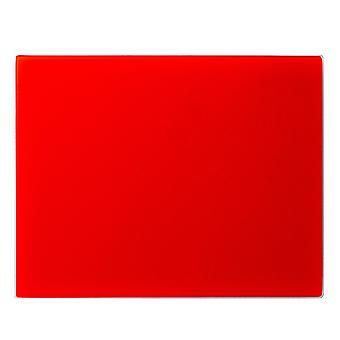 لوحة تقطيع التوقف عن طريق سطح العمل الزجاج | 50 × 40 سم - أحمر | حامي خفف غير زلة لأسطح المطبخ