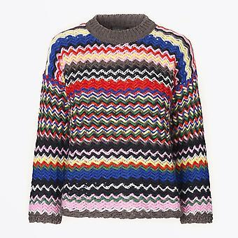 Stine Goya - Rebeka - Pull en tricot Zig Zag - Multi