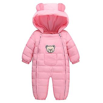 Newborn Baby Snowsuit Boys Girls Kids Rompers Winter Thick Cotton Warm Clothes