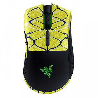 REYTID Durasoft Polymer Gaming Mouse Skin Grip Sticker Tape - PRE-CUT - Kompatibel med Razer Mamba Wireless - Skridsikker, vandtæt og ultra-komfortable greb