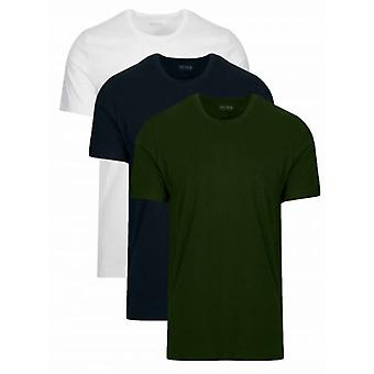 BOSS Multi farbige n3 Pack Rundhals T Shirt