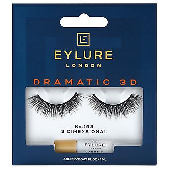 Eylure Dramatic 3D Strip Lashes - No 193 - Fluffy Strands and TaperedFinish