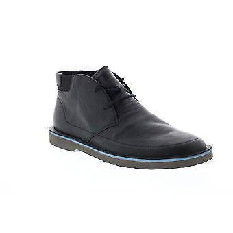 Camper Morrys  Mens Black Leather Lace Up Casual Dress Boots