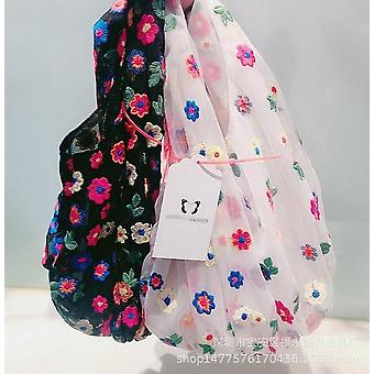 Korealainen Organza kirjonta Värikkäitä kukkia Käsilaukut & Kengät Muut Tyttö laukut