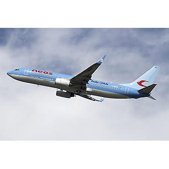 ネオス航空会社ポスター印刷のボーイング 737-800