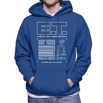 E.t. The Extra Terrestrial Where Are You From Men's Hooded Sweatshirt