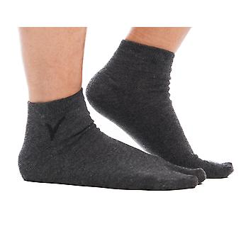 Gunmetal Grey Ankle Casual Flip-flop Tabi Big Toe Socks