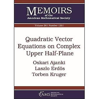 Kvadraattiset vektoriyhtälöt monimutkaisella ylemmällä puolitasolla (Amerikan matemaattisen seuran muistelmat)
