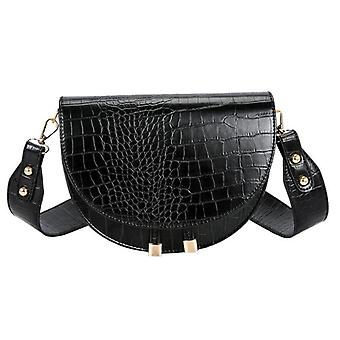 Luxus Krokodil Muster Crossbody Taschen - halbe Runde Messenger Pu Leder