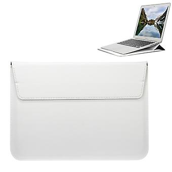 Universal Envelope Style PU Leather Case with Holder for Ultrathin Notebook Tablet PC 13.3 inch, Size: 35x25x1.5cm(White)