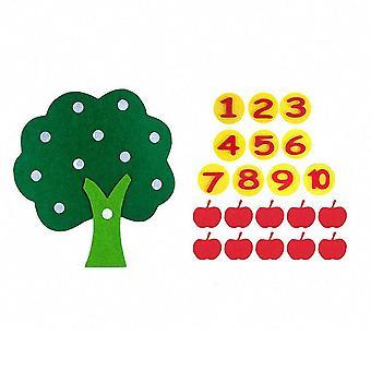 مونتيسوري التفاح الأشجار الرياضيات للعبة لتعليم -- التعليم في مرحلة مبكرة من التعليم
