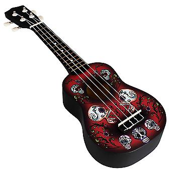 21inch Ukelele String Instruments 4 String Guitar Mini Guitar Black and Red