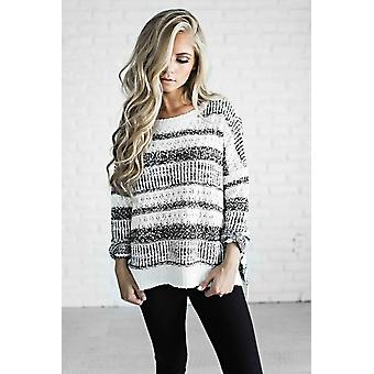 Striped Pullover Knit Sweater