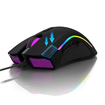 Sensor Gaming Mouse With 7-programmable Buttons, Rgb Backlight Wired Mice With
