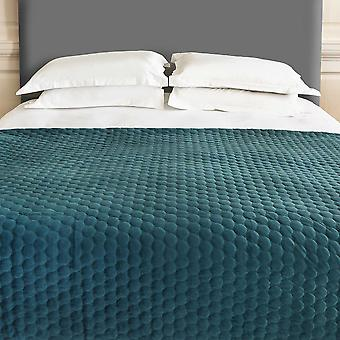 Halo Quilted Soft Luxury Throw In Teal Blue