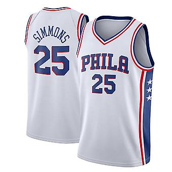 Philadelphia 76ers Simmons Loose Basketball Jersey Sport Shirts 3QY002