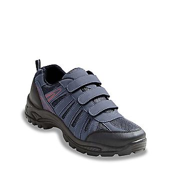 Chums Mens Shoes Wide Fit Walking Touch Fasten
