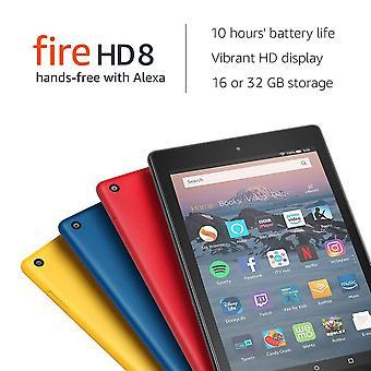 """Certificat refurbished foc hd 8 comprimat   hands-free cu alexa   8"""" ecran hd, 32 GB, negru - cu"""