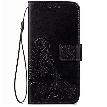 Lucky Grass Leather Case voor Sony Xperia? XZ1 Compact - Zwart