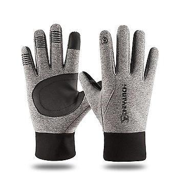 Luvas esportivas ao ar livre de inverno, tela sensível ao toque, bicicleta, bicicleta, corrida de ciclismo