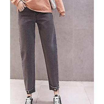 Loose Maternity Jeans High Talie reglabile Belly Pants, moda de primăvară