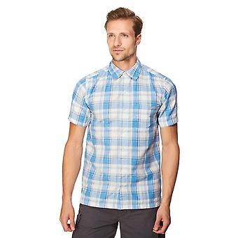 New Regatta Men's Brennen Short Sleeve Shirt Blue