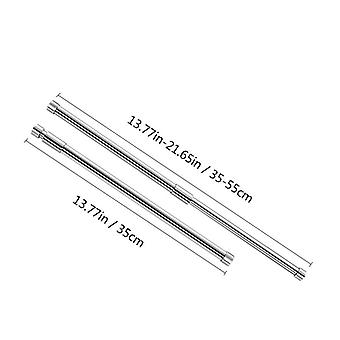 Spring Tension Rod Rail, Stainless Steel, Retractable, Shower, Curtains,