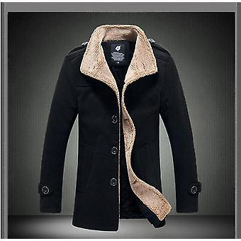סתיו / חורף מעיל קטיפה דק קוריאני גברים & s מעיל רוח צמר בגדים