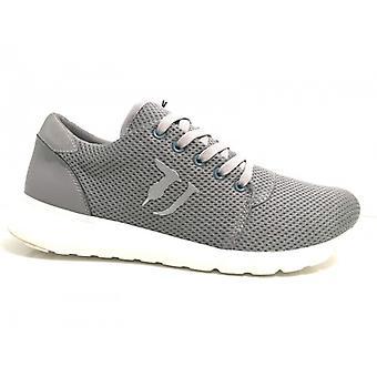 Sapatos Unissex Sneaker Trussardi Jeans Fabric Grey Bottom Bubble 17tj04
