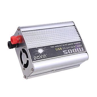 500W watt dc 24v bis ac 220v + USB tragbare Spannung Transformator Auto StromWechselrichter