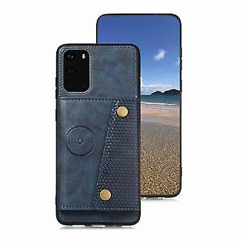 Leather case with card slot for Samsung Galaxy A6 - blue