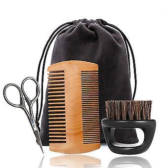 5pcs/set Men Beard Bib Aprons Balm Beard Oil Comb Moisturizing Wax Beard Care