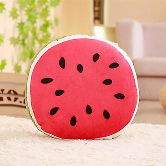 Cool Semicircle Watermelon Plush Pillow Stuffed Triangular Fruit Doll