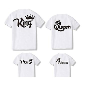 Tricou Cotton Family Clothes, tricouri Princess Queen King Father