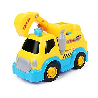 Domino Game Toy Automatic  Engineering vehicle