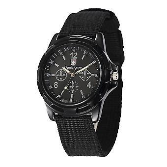 Men Nylon Band Sports Gemius Army Clock Quartz Military Watch