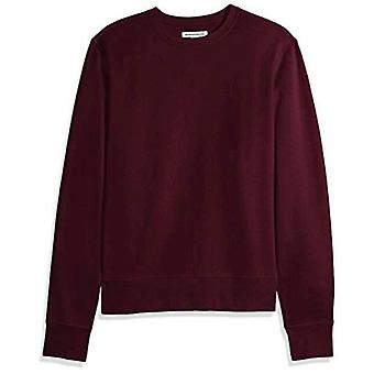 Essentials Men's Crewneck Fleece Sweatshirt, Burgund, groß