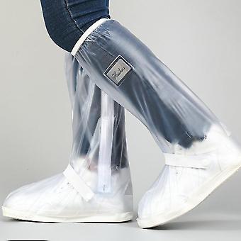 Cubiertas de zapatos impermeables de alta altura para motocicletas, ciclismo